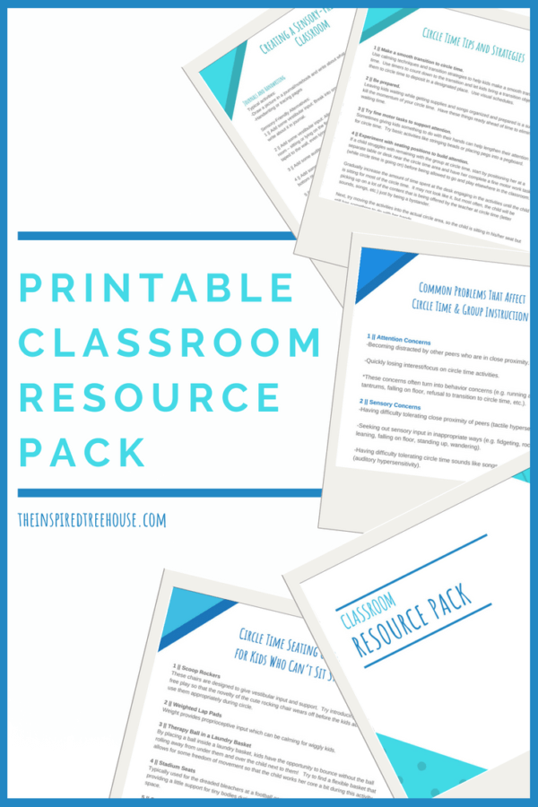 printable classroom resource pack