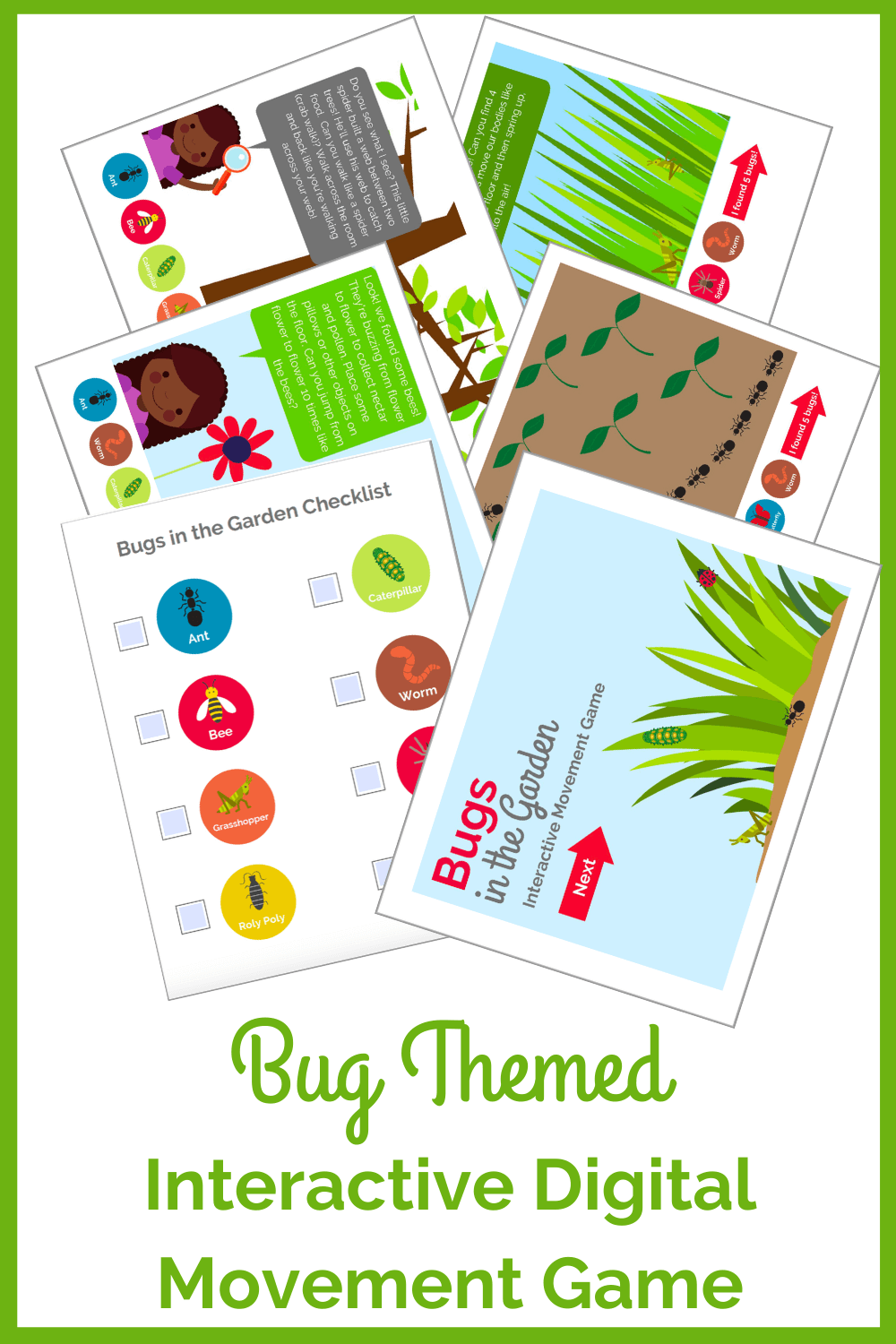 Bug Themed Interactive Digital Movement Game The Inspired Treehouse